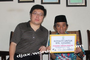 Penyerahan royalty dari PT. Penerbit Karya Musik Pertiwi