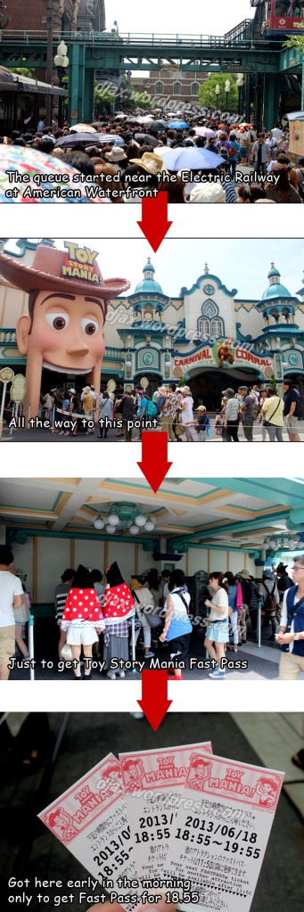 Toy Story Mania Fast Pass Queue