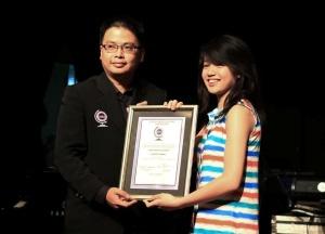 Clarissa Tamara received World Record certificate from Record Holders Republic (RHR)