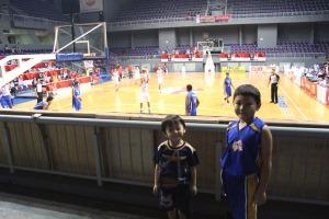 The Boys wathcing FIBA U16 basketball